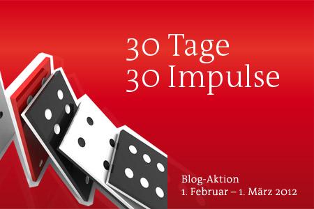 "Hinweis-Bild auf die Blog-Aktion ""30 Tage, 30 Impulse"""