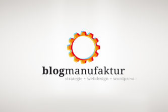 Logo blogmanufaktur – strategie + webdesign + wordpress