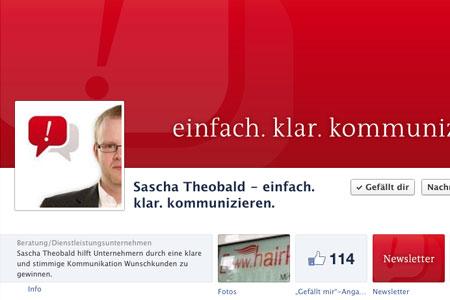 Bildschirmfoto Sascha Theobalds Facebook-Seite