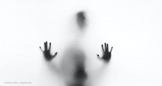 Schatten eines Menschen hinter einer difusen Fläche. © Stefano Pollio – unsplash.com