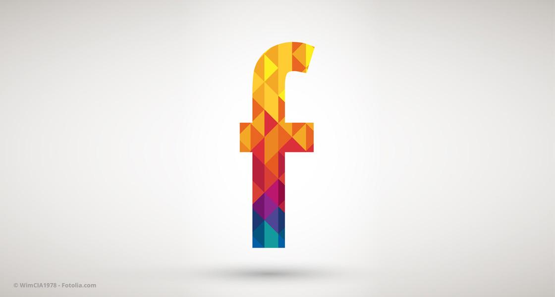 Buntes Facebook-Logo