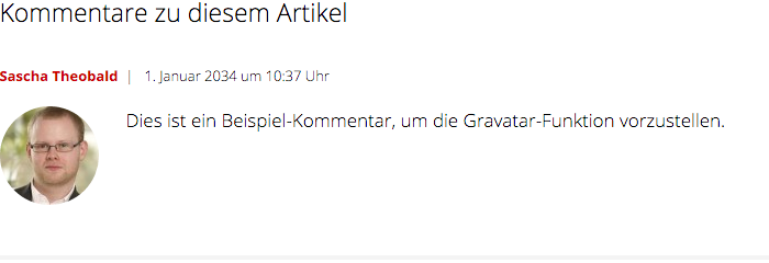 Gravatar in einem WordPress-Blog