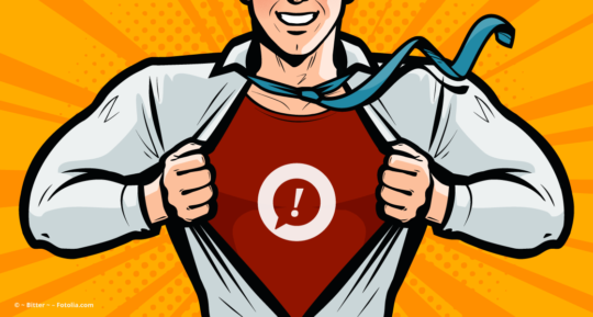 Illustration eines Business-Superhelden © ~ Bitter ~ – Fotolia.com