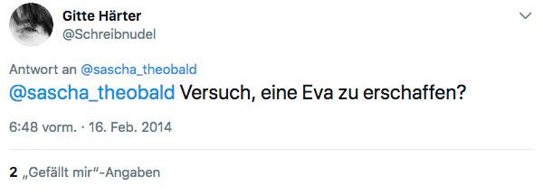 Tweet Gitte Härter