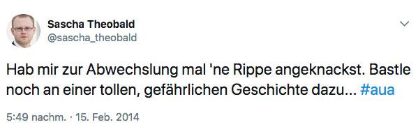 Tweet Sascha Theobald
