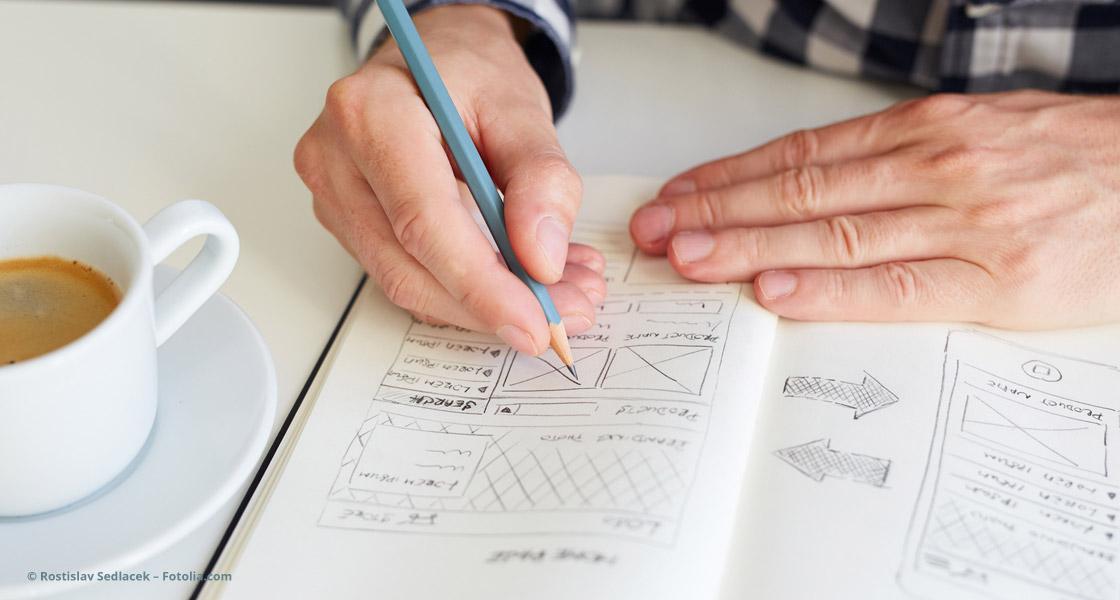 Skizzen für ein Responsive Webdesign