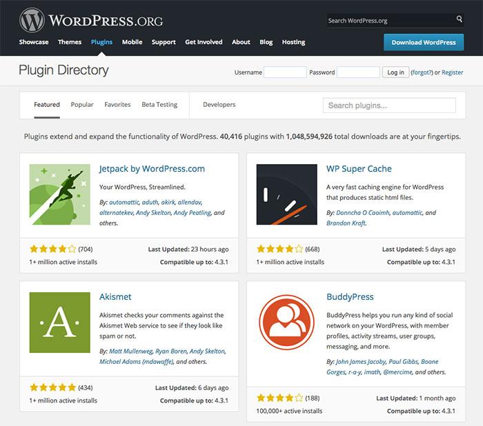 WordPress Plugin-Verzeichnis