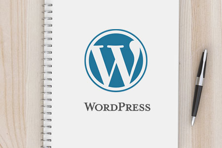 WordPress-Logo auf Notizblock